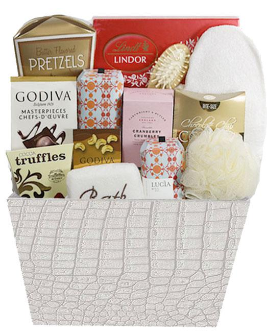 Mother's Day Spa Basket. Image via Canada's Gift Baskets.