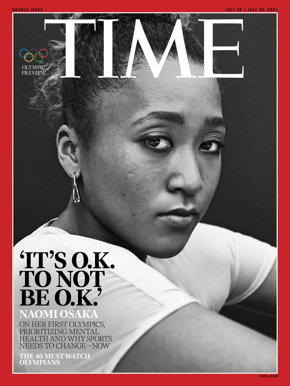 The cover of Time magazine featuring Naomi Osaka. (Time)