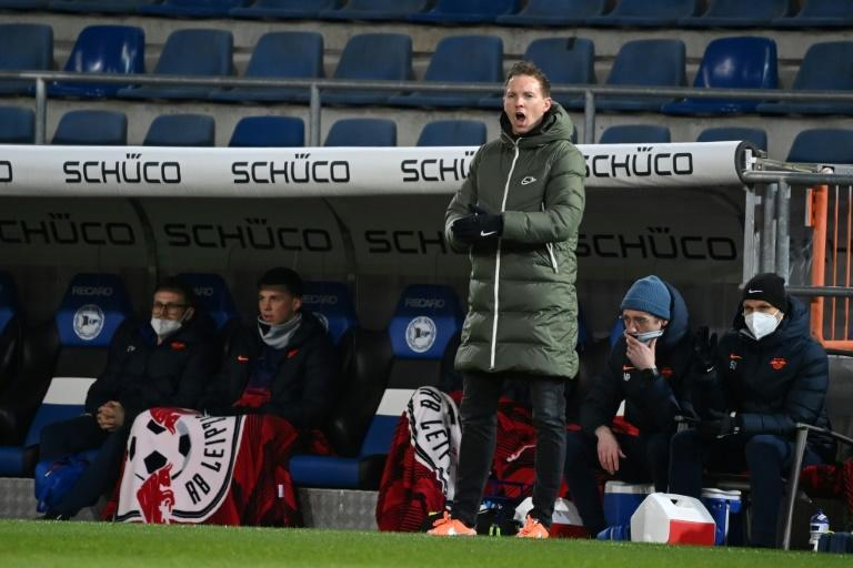 Julian Nagelsmann's RB Leipzig will aim to cut Bayern Munich's lead at the top to a single point