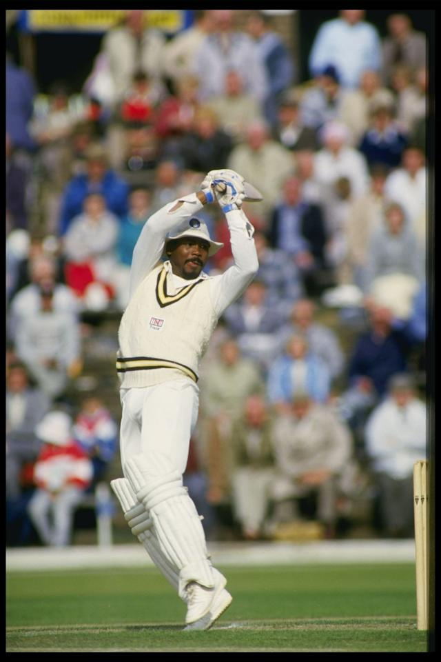 1986:  Gordon Greenidge of Hampshire batting during the Azda trophy against Lancashire in Scarborugh                                                           Mandatory Credit: Adrian Murrell/Allsport UK