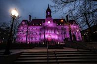 <p>Prince held a series of surprise shows at Place des Arts in Montreal last month — some of his last shows ever. The city showed its respect. <i>(Photo: Twitter)</i></p>