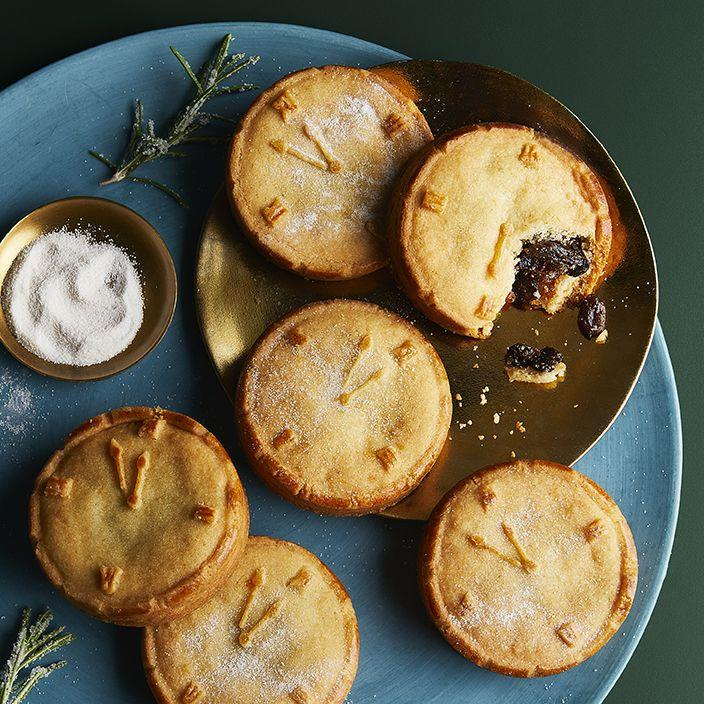 <p>'Golden carrot and caraway shortcrust pastry, filled with rich carrot and vine fruit mincemeat laced with cream sherry - a delicious winter warmer with a special sprinkle of smoked sugar on top.'</p>
