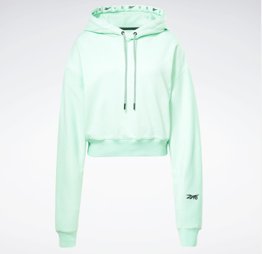 Cropped Hoodie that will be available in Digital Green