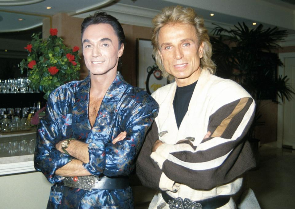 Siegfried & Roy during their residency at The Mirage in Las Vegas (Photo: Peter Bischoff via Getty Images)