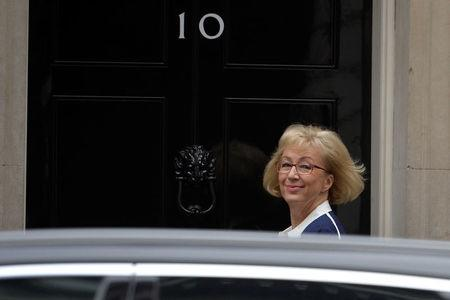 Britain's Leader of the House of Commons Andrea Leadsom arrives for the cabinet's weekly meeting in Downing Street, London, Britain October 10, 2017. REUTERS/Mary Turner