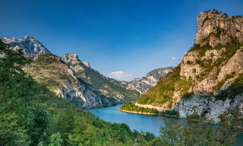 Grabovičko Lake in the Neretva River canyon.