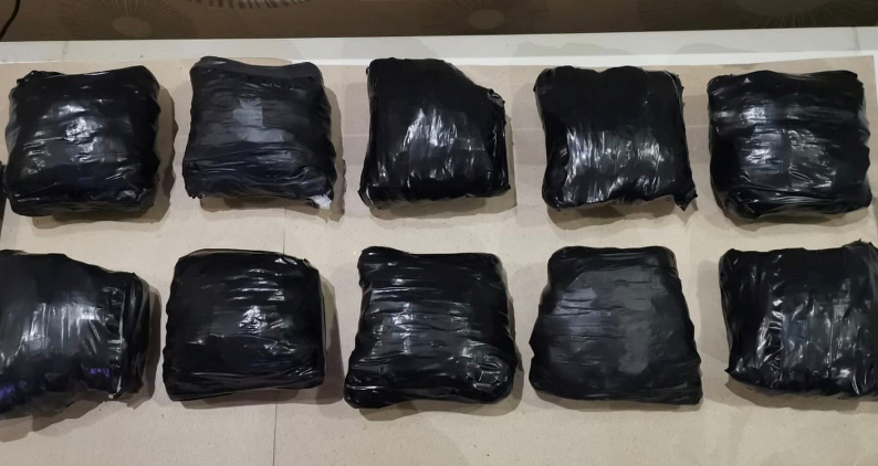 10 bundles of heroin recovered from a residential unit in the vicinity of Rivervale Drive (Photo: CNB)