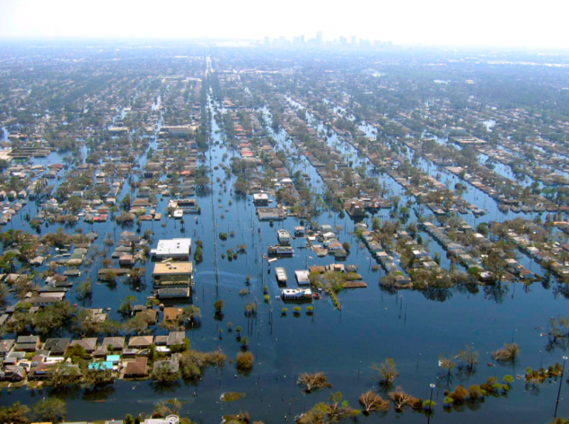 new orleans after hurricane katrina credit NOAA/wikimedia commons