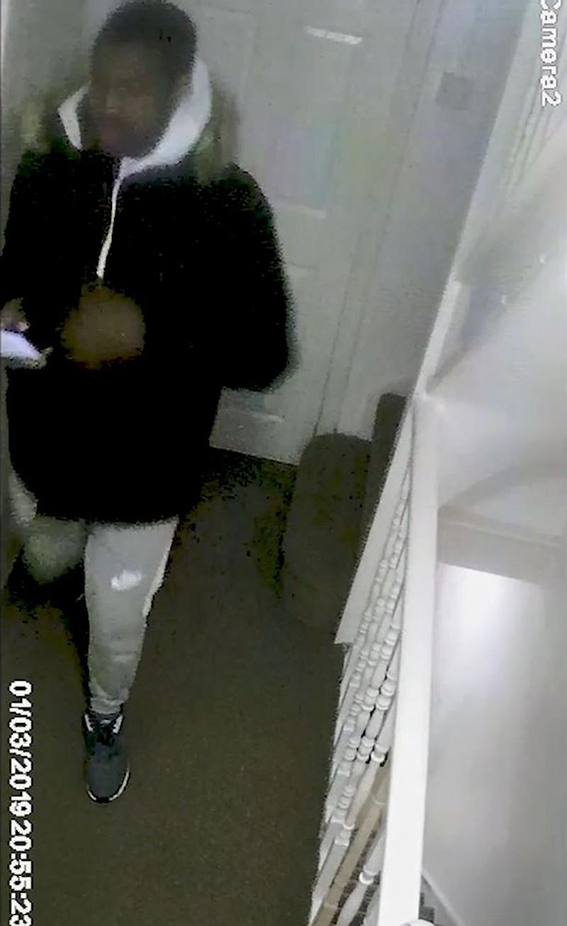 Undated handout CCTV grab issued by the Metropolitan Police of Svenson Ong-a-Kwie, 19, leaving his hostel shortly before the murder of Jodie Chesney (PA)