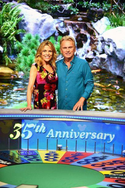 PHOTO:Wheel of Fortune' hosts Vanna White and Pat Sajak attend a taping of the Wheel of Fortune's 35th Anniversary Season at Epcot Center at Walt Disney World, Oct. 10, 2017, in Orlando, Fla. (Gerardo Mora/Getty Images, FILE)