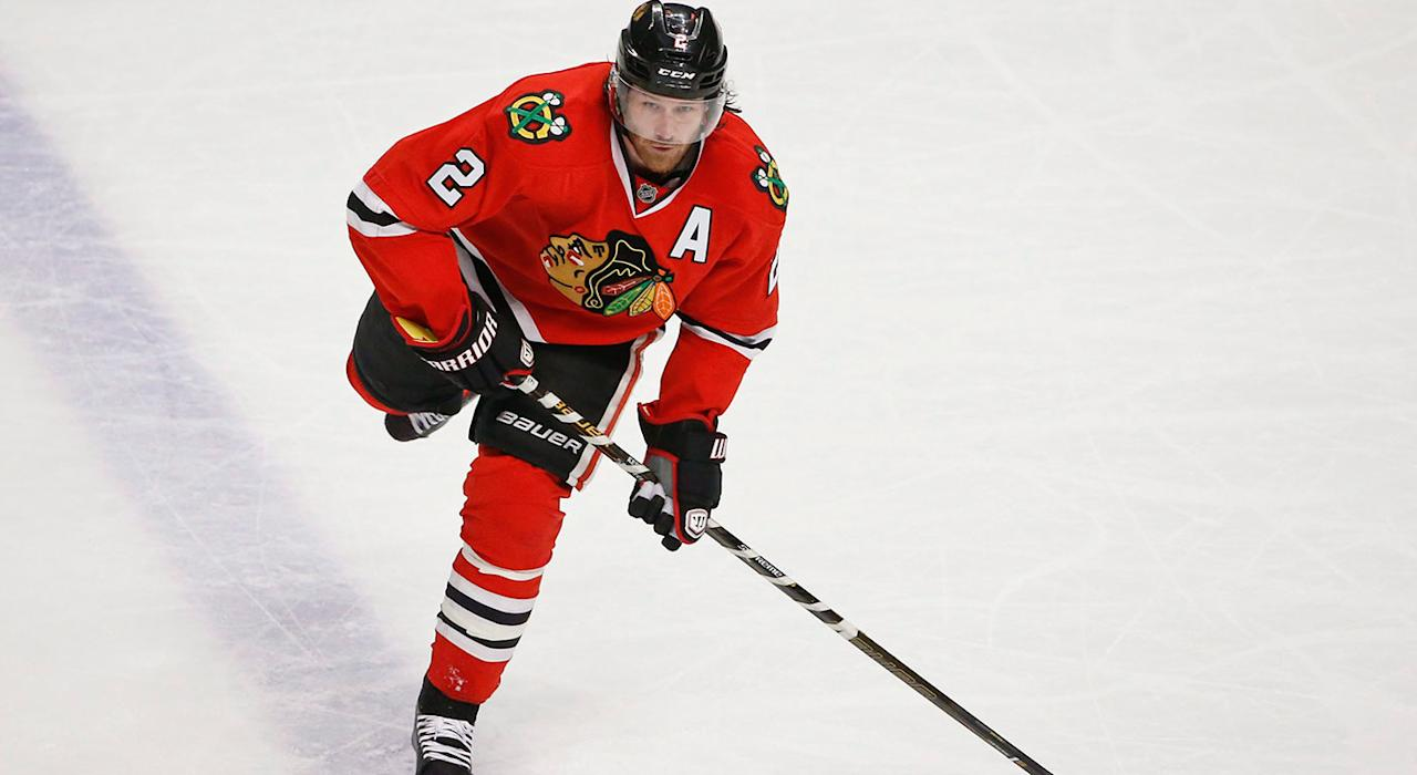 <p>The Blackhawks signed Duncan Keith to a 13-year,<br /> $72M contract in 2009. (Kamil Krzaczynski/AP) </p>