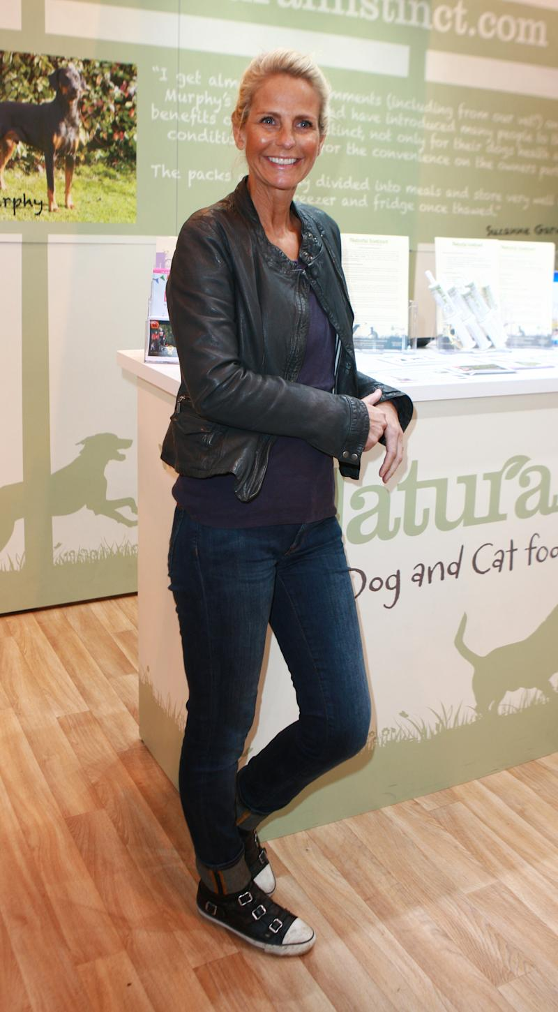 BIRMINGHAM, UNITED KINGDOM - MARCH 08: Ulrika Jonsson arrives at the Natural Instinct stand on Day four of Crufts Day four of Crufts 2015 held at the NEC Birmingham on March 08, 2015 in Birmingham, England. PHOTOGRAPH BY Graham Stone / Barcroft Media (Photo credit should read Graham Stone / Barcroft Media via Getty Images)