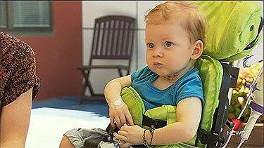 Little Lucas heads home after incredible recovery