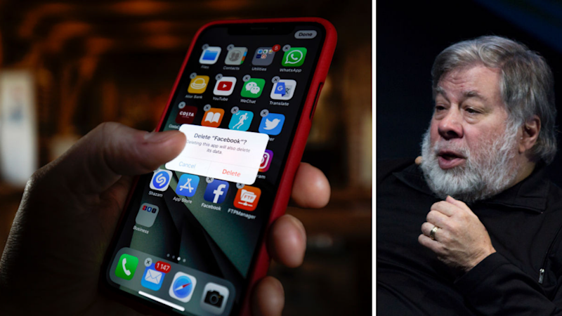 Apple's co-founder Steve Wozniak wants you to delete Facebook. Source: Getty