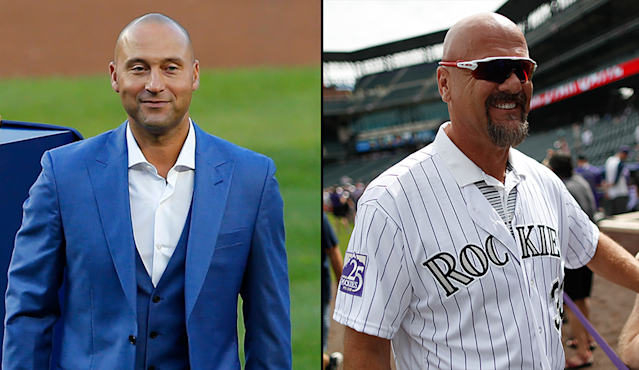 Derek Jeter and Larry Walker have been voted into the Hall of Fame. (Getty Images/AP)