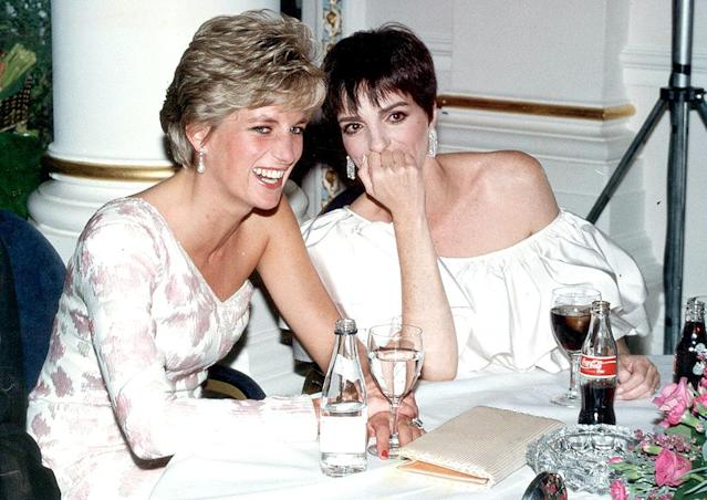 "<p>The famous entertainer's close friendship with Diana (they met at one of Minnelli's concerts) set the stage for a photo that captured the princess in a rare moment, as a woman <a href=""https://www.theguardian.com/artanddesign/2015/may/07/dave-benett-best-photograph-princess-diana-liza-minnelli"" rel=""nofollow noopener"" target=""_blank"" data-ylk=""slk:chatting with her girlfriend"" class=""link rapid-noclick-resp"">chatting with her girlfriend</a>. The duo was at the 1991 premiere of Minnelli's movie <i>Stepping Out</i> that night, but they also met for lunches and tea. ""All my life,"" the daughter of Judy Garland reportedly said, ""I've had bowing and scraping. I haven't encouraged it. That's just how it's been. Well, Princess Di got pretty used to people bowing and scraping. So it was a relief to both of us that we could just be ourselves around each other."" (Photo: Dave Benett/Getty Images) </p>"