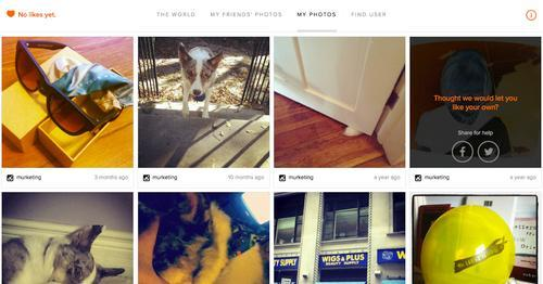 Instagram photos shown on Nolikesyet.com