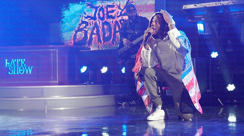 Watch Joey Bada$$ Perform Bruising 'Land of the Free' on 'Colbert'