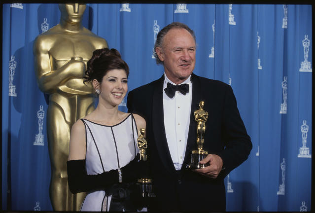 At the 1993 Academy Awards, Marisa Tomei and Gene Hackman won Oscars in the Best Supporting Actress and Actor categories. (Steven D Starr via Getty Images)