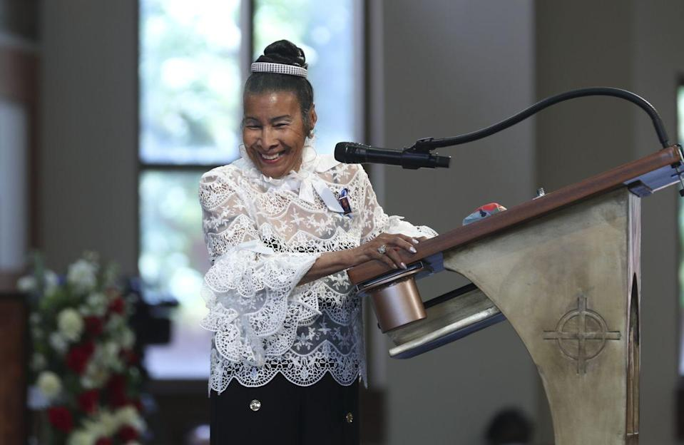 <p>Civil rights leader Xernona Clayton gave a eulogy during Lewis's funeral. Clayton noted that she set up Lewis and his late wife Lillian Miles. She is also the godmother to Lewis's son, John-Miles.</p>