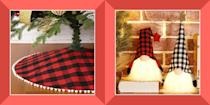 "<p>The holidays are a sensorial wonderland. The smell of pine needles, the taste of Christmas cookies, and the sight of twinkling snow and string lights all bring a sense of wonder to the wintry season. But how do we want to <em>feel</em>? </p><p>Buffalo plaid pattern, which <a href=""https://www.hgtv.com/design/decorating/design-101/trending-now--buffalo-check"" rel=""nofollow noopener"" target=""_blank"" data-ylk=""slk:has 18th-century Scottish roots"" class=""link rapid-noclick-resp"">has 18th-century Scottish roots</a>, is a natural choice for layering into your home decor — the blocky plaid conjures up feelings of toasty-warm flannel shirts and outdoors accessories, automatically imbuing a sense of coziness wherever it's placed indoors. </p><p>So snuggle up and read on to check out our 10 favorite buffalo-plaid Christmas decor picks.</p>"
