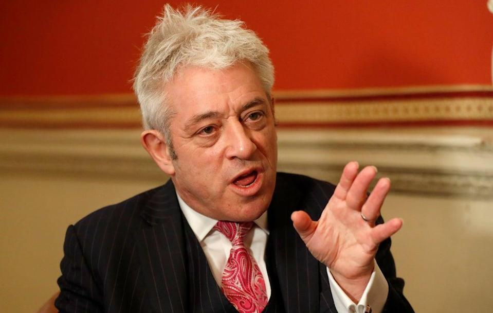 John Bercow spoke at Labour conference (FILE PHOTO)  (Copyright 2019 The Associated Press. All rights reserved)
