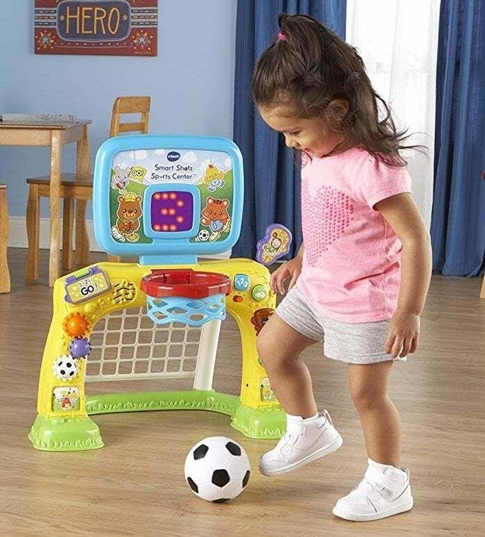 """This should inspire you and your kid to get up off the couch, stop watching """"SportsCenter,"""" and learn about numbers and counting through the scoreboard, gears and buttons. Also, please resist the urge to dunk on your child.<br /><br /><strong>Promising Review:</strong>""""We all know that with most toys, kids will not stay interested for long.<strong>We have had this toy for three months now and my son still enjoys playing with it.</strong>He also loves to see the numbers flash on the screen because he will say the number. Putting the toy together was super easy and simple, just make sure you buy the required batteries because this toy does not come with them."""" —<a href=""""https://amzn.to/2PbwHhw"""" target=""""_blank"""" rel=""""noopener noreferrer"""">Fran</a><br /><strong></strong><strong></strong><strong><br />Get it from Amazon for<a href=""""https://amzn.to/3awUmk4"""" target=""""_blank"""" rel=""""noopener noreferrer"""">$54.99+</a>(available in two colors).</strong>"""