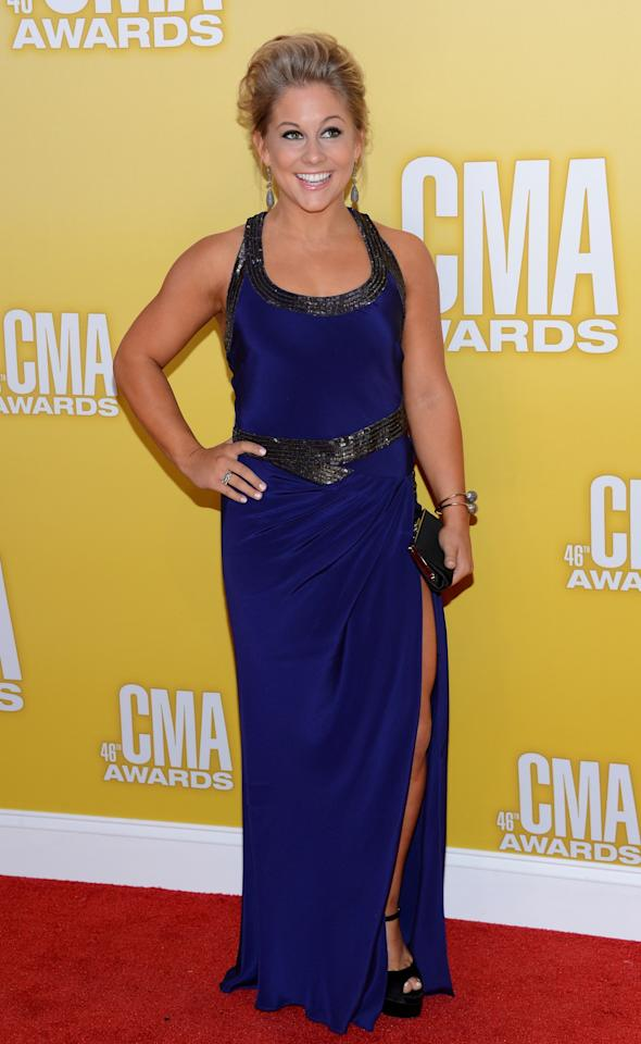 NASHVILLE, TN - NOVEMBER 01:  Olympic gold medalist gymnast Shawn Johnson attends the 46th annual CMA Awards at the Bridgestone Arena on November 1, 2012 in Nashville, Tennessee.  (Photo by Jason Kempin/Getty Images)