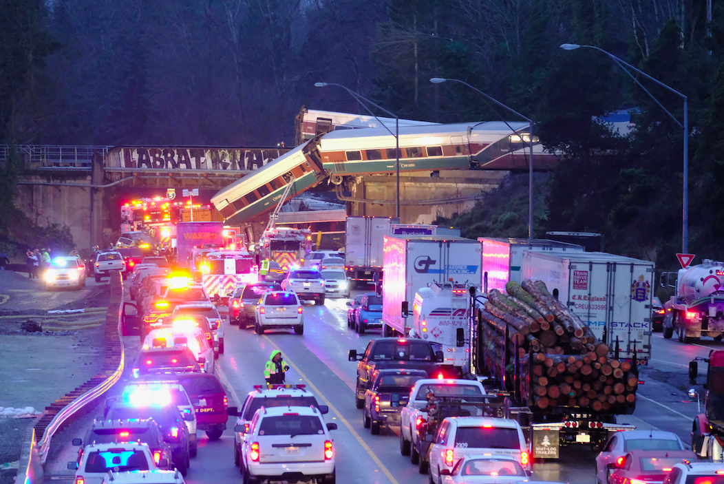 <p>Cars were backed up as the roads were blocked following the accident. (Rex) </p>