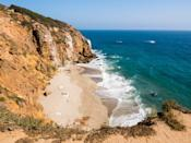 """<p><strong>Give us the wide-angle view: what kind of beach are we talking about?</strong><br> One of the most iconic scenes in film history—Taylor and Nova coming upon the Statue of Liberty at the end of Planet of the Apes—was filmed at Point Dume. And though the beach might not be at the end of the world, it is at the end of <a href=""""https://www.cntraveler.com/story/what-to-do-in-malibu?mbid=synd_yahoo_rss"""" rel=""""nofollow noopener"""" target=""""_blank"""" data-ylk=""""slk:Malibu"""" class=""""link rapid-noclick-resp"""">Malibu</a>; it's a point that juts into the Pacific with a dramatic cliff's edge that drops down to a beautiful crescent-shaped beach. It's a perfect spot for a beach day. Hiking, rock climbing, swimming, cave exploration, and scuba diving are all possibilities.</p> <p><strong>How accessible is it?</strong><br> Getting to Point Dume is a straight shot up the Pacific Coast Highway, which is famous for standstill traffic on beach days. If you're early, there's a tiny parking lot. Otherwise, you'll park down in the paid lot at the far end of the beach (it's $8 on weekdays and $15 on weekends), that comes with a quarter mile hike back down to the beach.</p> <p><strong>Decent services and facilities, would you say?</strong><br> There's not a whole lot in terms of amenities at the beach, so bring your own gear and sunscreen.</p> <p><strong>How's the actual beach stuff—sand and surf?</strong><br> The water is crystal clear, making it a perfect swimming spot on a sweltering summer day. Because of the clear water, Point Dume is also a well-known scuba spot, where sea lions are known to swim around with you, but it's considered extremely difficult due to strong currents.</p> <p><strong>Can we go barefoot?</strong><br> The beach is sandy—perfect for lazy sunning all day long and barefoot walks—and it's not too crowded, except on weekends during the peak summer months. Find a spot to lay out a beach blanket and you'll find serenity. There are myriad hiking trails that take you up t"""