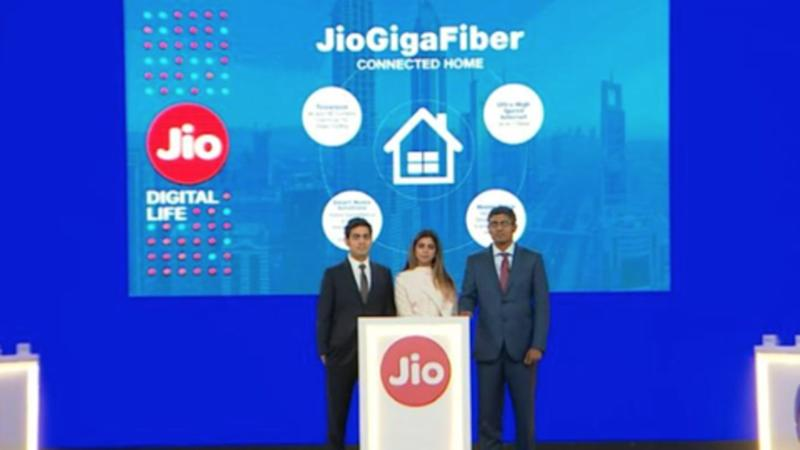 Jio is testing a Triple Play plan for GigaFiber users