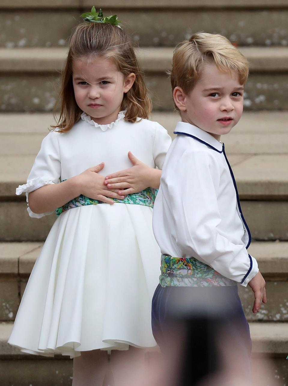 Princess Charlotte and Prince George. mage via Getty Images.