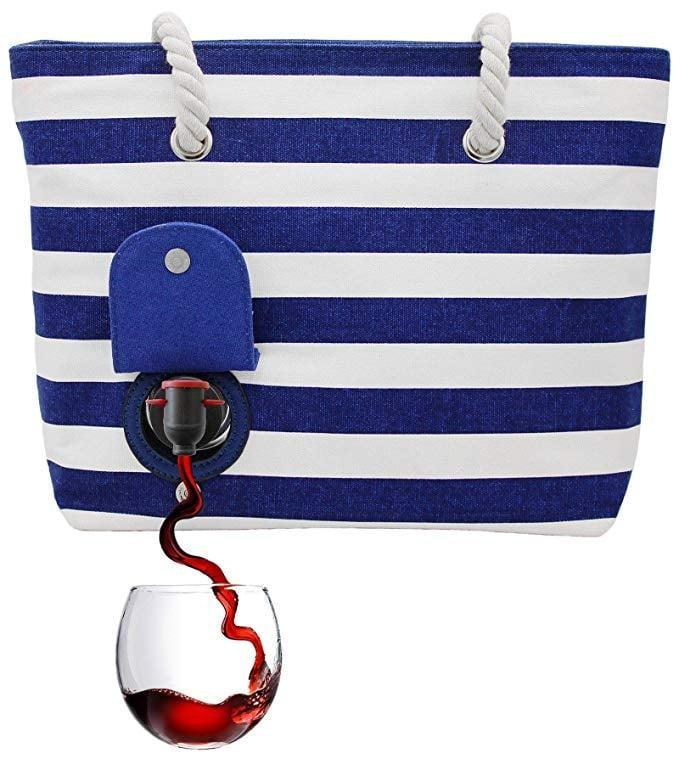 <p>This genius <span>PortoVino Beach Wine Tote </span> ($45) comes in a few different colors. </p>