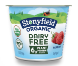 """<p>This little tub of yogurt boasts its 6 grams of """"plant-based protein"""" proudly on its label, while it's a bit more coy about the fact that it contains a whopping 22 grams of added sugar. </p><p>The packaging is so lovely that it might almost distract you from the fact that what is supposedly a healthy breakfast pick has 61 percent of the <a href=""""https://www.heart.org/en/healthy-living/healthy-eating/eat-smart/sugar/how-much-sugar-is-too-much"""" rel=""""nofollow noopener"""" target=""""_blank"""" data-ylk=""""slk:American Heart Association's"""" class=""""link rapid-noclick-resp"""">American Heart Association's </a>recommended daily limit of added sugars (for men, that's 36 grams per day).</p><p>If you want a dairy-free yogurt, you can find lower sugar options or opt for plain and sweeten it with fruit and/or a drizzle of agave. </p>"""