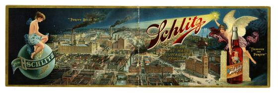 Courtesy of National Museum of American History: Smithsonian InstitutionSchlitz beer ad, circa 1899.