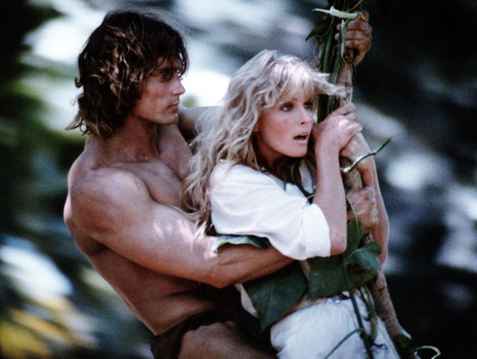Miles O'Keeffe and Bo Derek as Tarzan and Jane in 1981's