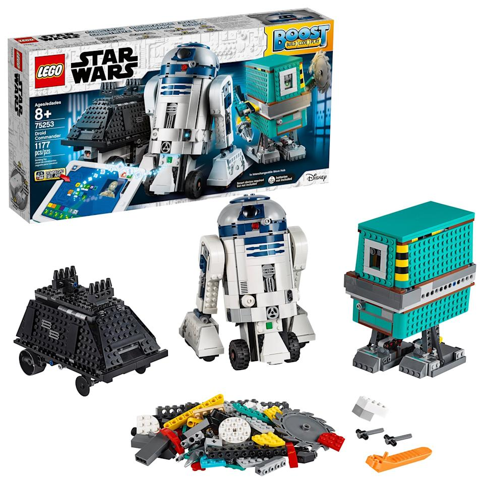 "<p>Your kids can learn to code the Lego way with this epic interactive <a href=""https://www.popsugar.com/buy/LEGO-Star-Wars-Boost-Droid-Commander-Set-493057?p_name=LEGO%20Star%20Wars%20Boost%20Droid%20Commander%20Set&retailer=walmart.com&pid=493057&price=200&evar1=moms%3Aus&evar9=46653694&evar98=https%3A%2F%2Fwww.popsugar.com%2Ffamily%2Fphoto-gallery%2F46653694%2Fimage%2F46653717%2FLEGO-Star-Wars-Boost-Droid-Commander-Set&list1=toys%2Cgift%20guide%2Cstem%2Cparenting%20gift%20guide%2Ckids%20toys%2Choliday%20gift%20guide%2Cbest%20of%202019&prop13=api&pdata=1"" rel=""nofollow"" data-shoppable-link=""1"" target=""_blank"" class=""ga-track"" data-ga-category=""Related"" data-ga-label=""https://www.walmart.com/ip/LEGO-Star-Wars-Boost-Droid-Commander-75253-Building-Set-Learn-to-Code/859826986"" data-ga-action=""In-Line Links"">LEGO Star Wars Boost Droid Commander Set</a> ($200) that teaches them to code and develop creative problem-solving skills.</p>"