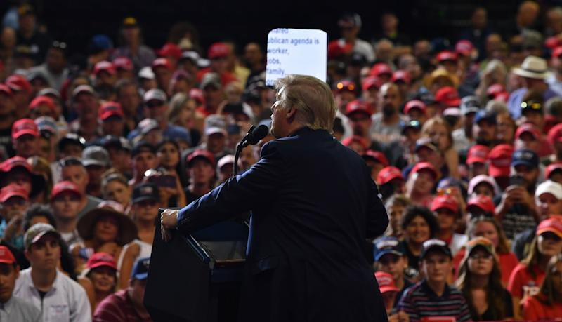 President Donald Trump at a campaign rally in Rio Rancho, New Mexico, on Sept. 16, 2019.