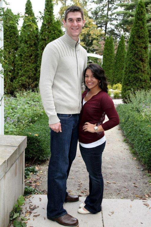 "There's just a small height difference. ""He's 6'11"" and I'm 5'1."" All [Andrew's] friends call me 'Dora' because I'm so small like 'Dora the Explorer,'"" Stage told Yahoo!"