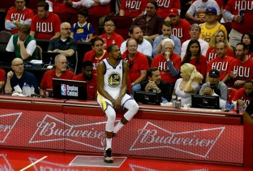 Kevin Durant sparked a fightback from the Golden State Warriors in a 119-106 win over Houston in game one of the Western Conference Finals