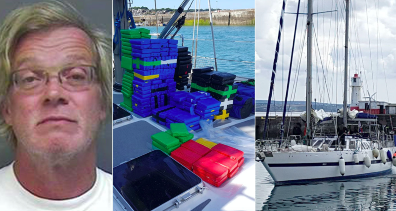 Maarten Pieterse was caught with 1,161 blocks of high-purity cocaine weighing 2.1 tonnes on board the SY Marcia vessel (PA)