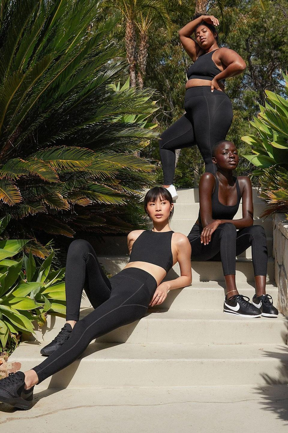 <p>The <span>Girlfriend Collective Compressive High-Rise Legging</span> ($68) and <span>Simone Bra</span> ($48) is eco-friendly, size inclusive, and comes in the comfiest fabric. Basically, there's nothing not to love.</p>