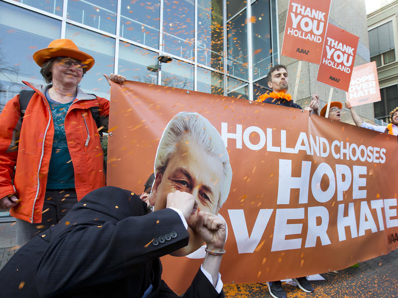 The Netherlands voted against the nationalism of Geert Wilders in yesterday's general election: AP