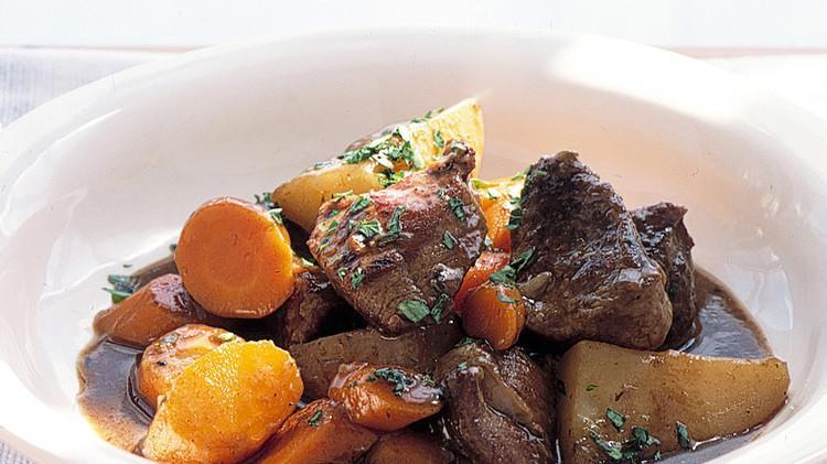 """<p>There's nothing fancy about this hearty, humble dish. Boneless lamb stew meat braises in <a href=""""https://www.marthastewart.com/7842166/cooking-with-beer-recipes"""" rel=""""nofollow noopener"""" target=""""_blank"""" data-ylk=""""slk:dark beer"""" class=""""link rapid-noclick-resp"""">dark beer</a> along with <a href=""""https://www.marthastewart.com/1539281/potato-guide-starchy-waxy-all-purpose"""" rel=""""nofollow noopener"""" target=""""_blank"""" data-ylk=""""slk:new potatoes"""" class=""""link rapid-noclick-resp"""">new potatoes</a> and carrots—we doubt there will be leftovers. <a href=""""https://www.marthastewart.com/340639/irish-lamb-stew"""" rel=""""nofollow noopener"""" target=""""_blank"""" data-ylk=""""slk:View recipe"""" class=""""link rapid-noclick-resp""""> View recipe </a></p>"""