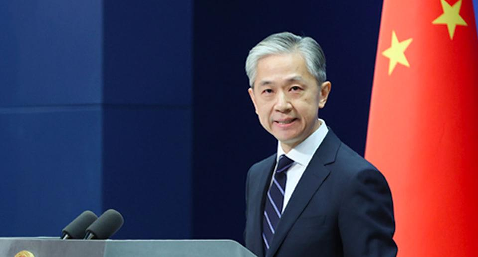 Wang Wenbin accussed Australia of hypocrisy on Tuesday evening. Source: FMPRC