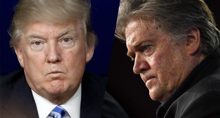 President Trump and presidential adviser Steve Bannon (Photos: Win McNamee/Getty Images; Bill O'Leary/The Washington Post via Getty Images)