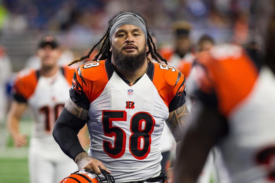 Former Bengals linebacker Rey Maualuga was arrested on a suspected DUI. (Photo by Scott W. Grau/Icon Sportswire via Getty Images)
