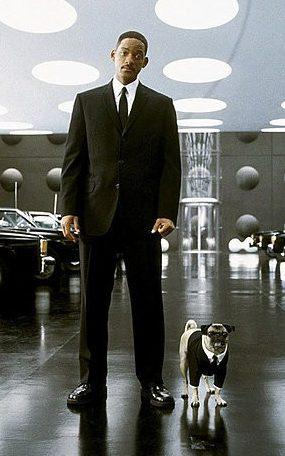 Will Smith in Men in Black with Frank the pug - Credit: AF archive / Alamy Stock Photo