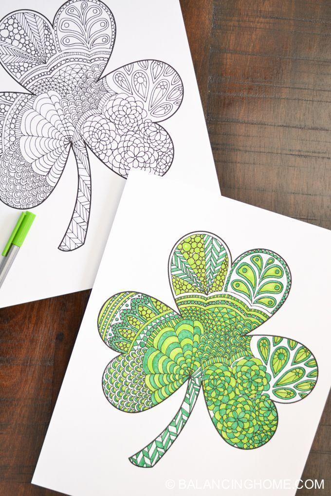 """<p>If you're looking for a fun and relaxing craft that involves little risk for mess, these fun printables are the perfect activity. </p><p><em>Get the tutorial at <a href=""""https://balancinghome.com/shamrock-coloring-printable/"""" rel=""""nofollow noopener"""" target=""""_blank"""" data-ylk=""""slk:Balancing Home"""" class=""""link rapid-noclick-resp"""">Balancing Home</a>. </em></p>"""