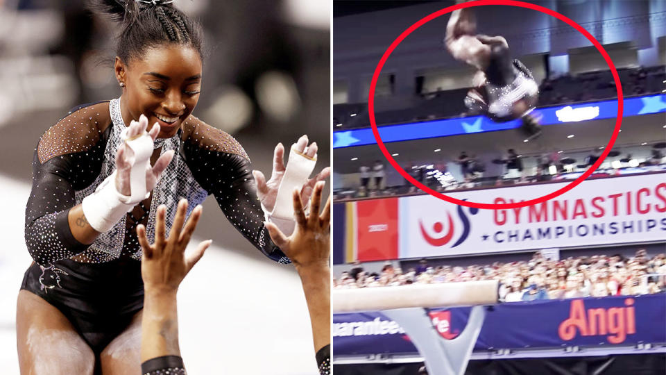 Simone Biles, pictured here in action at the US Gymnastics championships.